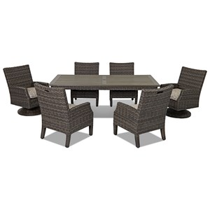 7 Pc Outdoor Dining Set
