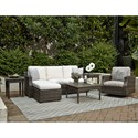 Klaussner Outdoor Cascade Outdoor Chat Set w/ Drainable Cushions - Item Number: W5000 Outdoor Room Group 4