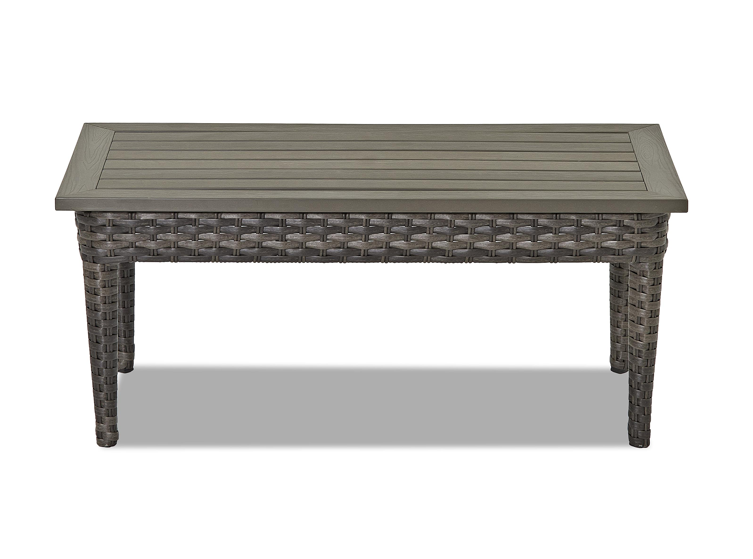 Klaussner Outdoor Cascade Rectangular Cocktail Table Nassau Furniture Outdoor Cocktail