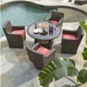 Klaussner Outdoor Cassley 5 Piece Dining Set - Item Number: W1100DRT54+2xDRC+2xSRDC