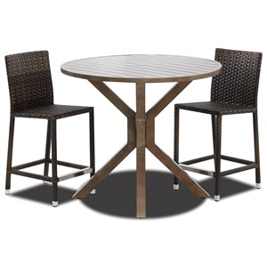 3 Piece Outdoor Pub Dining Set