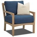 Klaussner Outdoor Delray Outdoor Chair with Drainable Cushion - Item Number: W8502 CDR