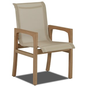 Klaussner Outdoor Delray Set of 2 Sling Dining Chairs