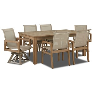 Klaussner Outdoor Delray 7-Piece Outdoor Dining Set