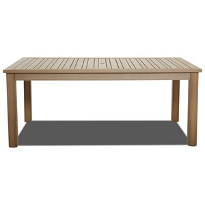"Klaussner Outdoor Delray Outdoor 73"" x 42"" Rect Dining Table"