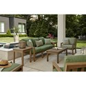 Klaussner Outdoor Delray Outdoor Chat Set - Item Number: W8502 S+2XC+OTTO+2xSQET+RECT