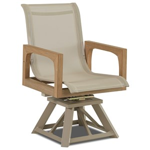 Klaussner Outdoor Delray Swivel Rocker Dining Chair