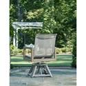 Klaussner Outdoor Delray Swivel Rocker Dining Chair