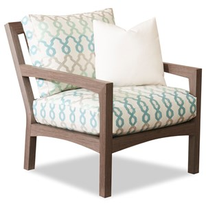 Outdoor Chair with Reversible Cushion