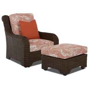 Outdoor Chair & Ottoman Set