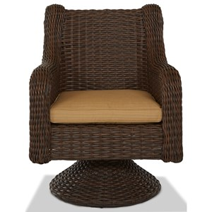 Swivel Rock Dining Chair w/ Drain Cushion