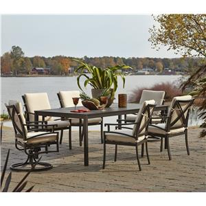 Klaussner Outdoor Linder 7 Piece Outdoor Dining Set