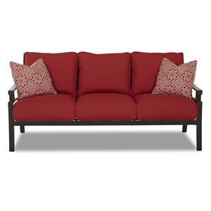 Klaussner Outdoor Linder Sofa with Drainable Cushion