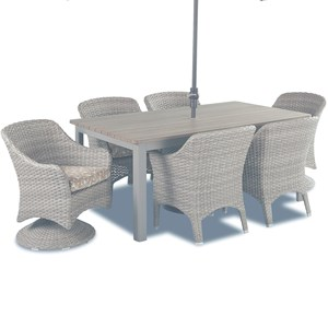 Mesa Seven Piece Outdoor Dining Set by Klaussner Outdoor