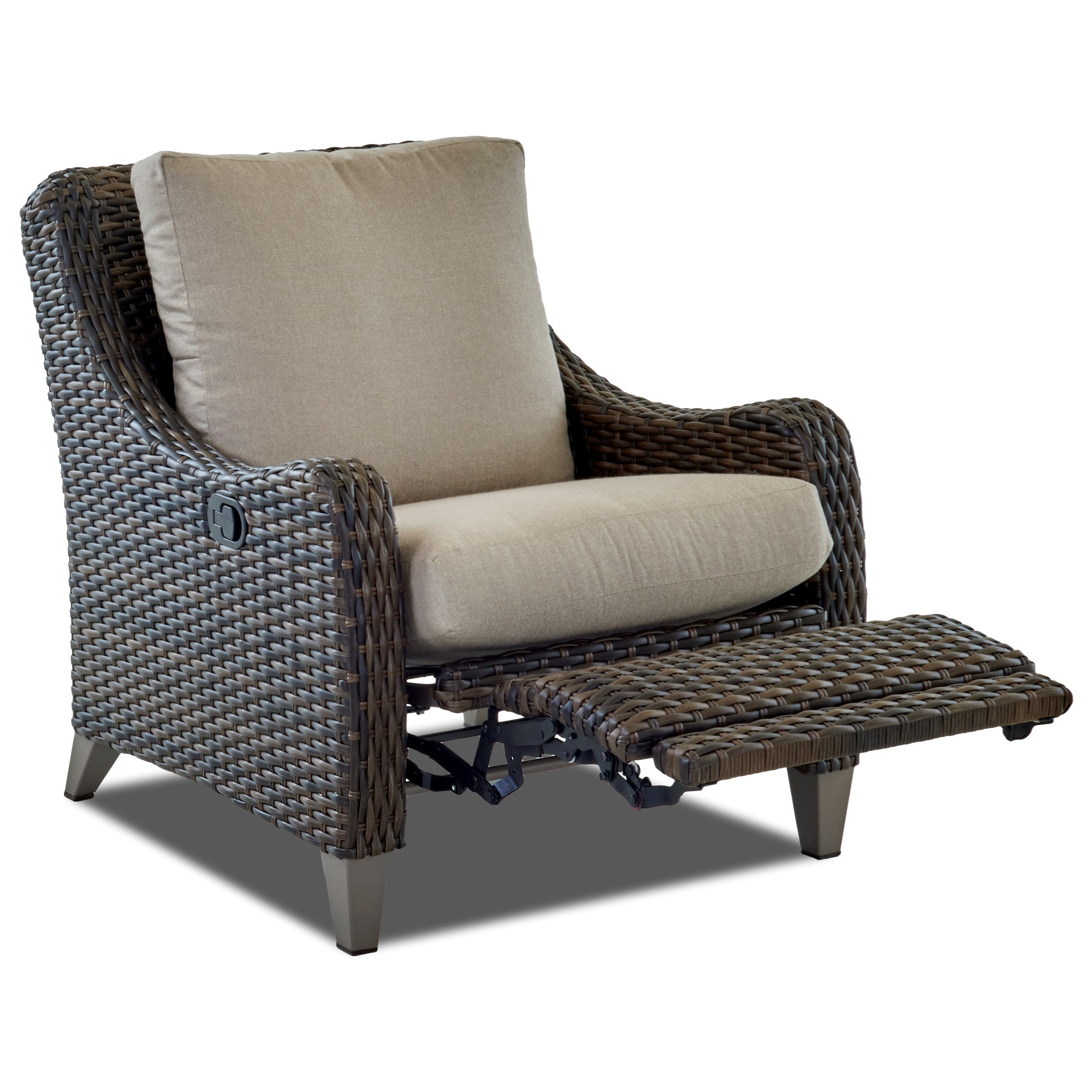 Picture of: Klaussner Outdoor Mesa W7502 Hlrc Outdoor High Leg Reclining Chair Hudson S Furniture Outdoor Chairs