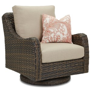 Swivel Rocker with Reversible Cushion