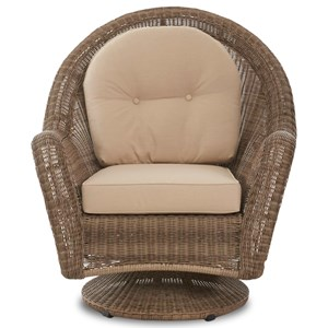 Klaussner Outdoor Surfsong Swivel Rocker Chair with Reversible Cushions