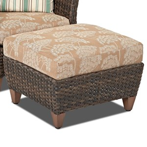 Klaussner Outdoor Sycamore Outdoor Ottoman with Drainable Cushion