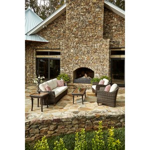 6 Pc Outdoor Chat Set w/ Reversible Cushions