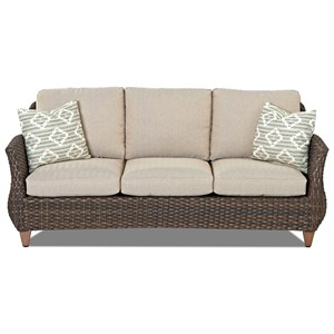 Klaussner Outdoor Sycamore Outdoor Sofa with Drainable Cushions