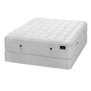 Queen Plush LuxeTop Mattress & Low Foundatio