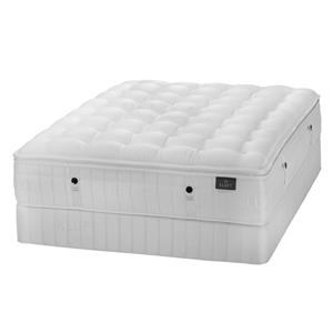 Kluft Lafayette Queen Plush LuxeTop Mattress & Low Foundatio