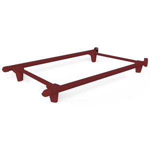 Twin\Twin XL Red Bed Frame