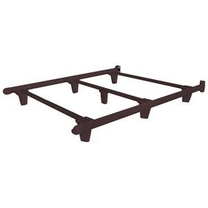 Full Espresso Brown Bed Frame