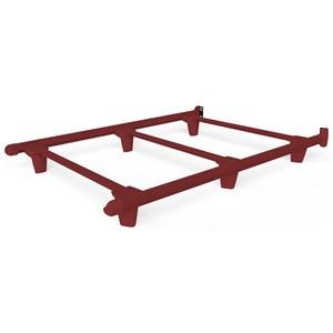 Full Red Bed Frame