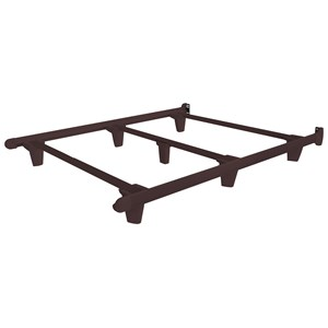 Cal King Espresso Brown Bed Frame