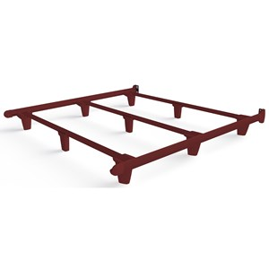 King Red Bed Frame