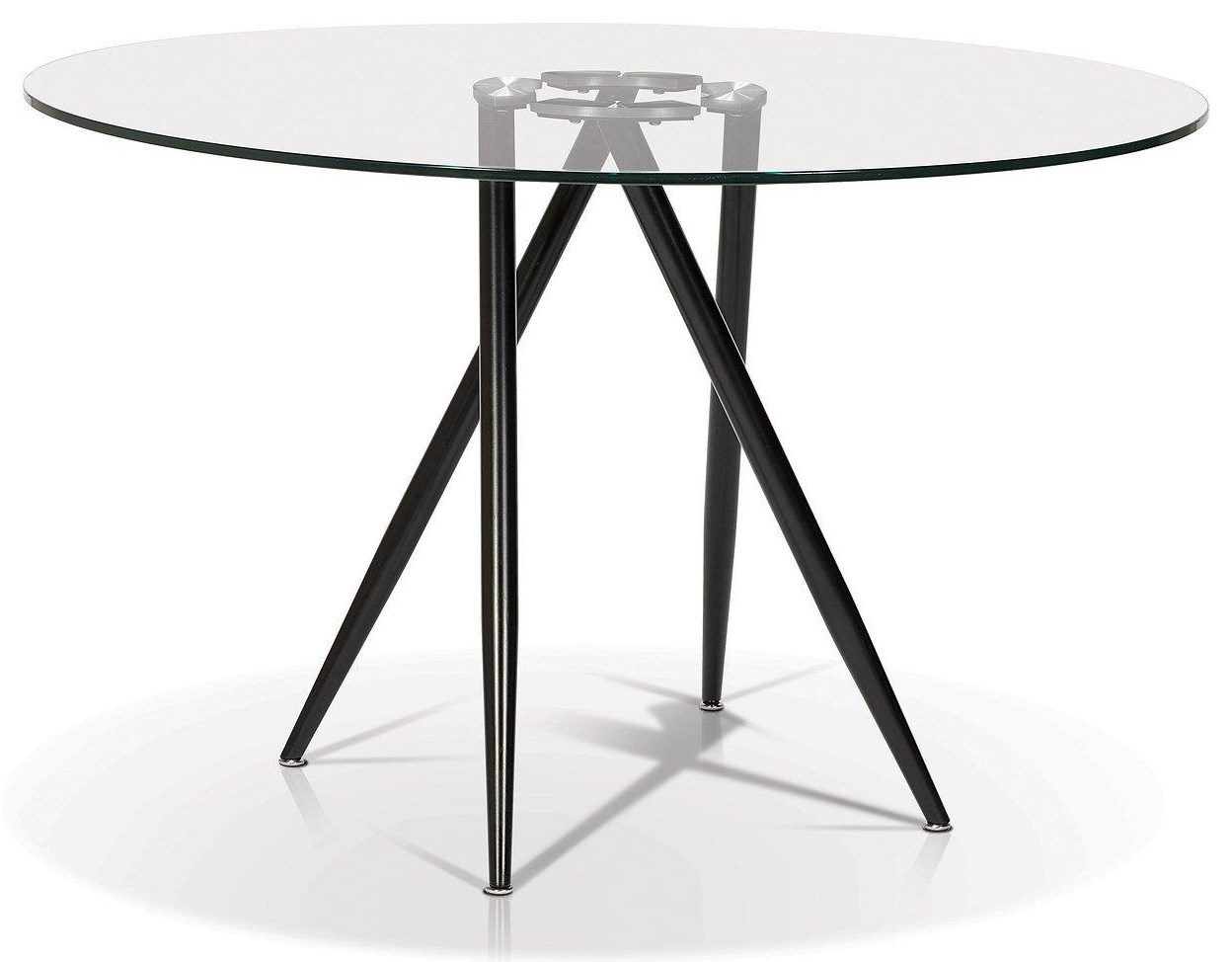 Korson Dining Room Syt1503 Round Glass Top Dining Table Upper Room Home Furnishings Dining Tables