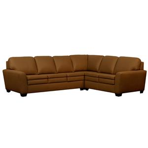 Kroehler Lifespaces (A) Angie Flair Tapered Arm Sectional