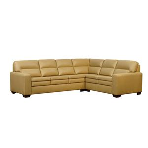 Lifespaces (F) Box Band Split Back Fiona Sectional w/ Classic Seat by Kroehler