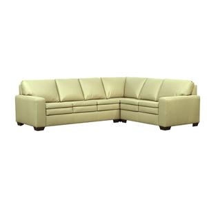Lifespaces (F) Knife Edge Classic Back Francesca Sectional w/ Euro Seat by Kroehler
