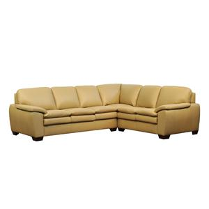 Lifespaces (J) Box Band Classic Back Jenna Sectional w/ Pillow Top Seat by Kroehler