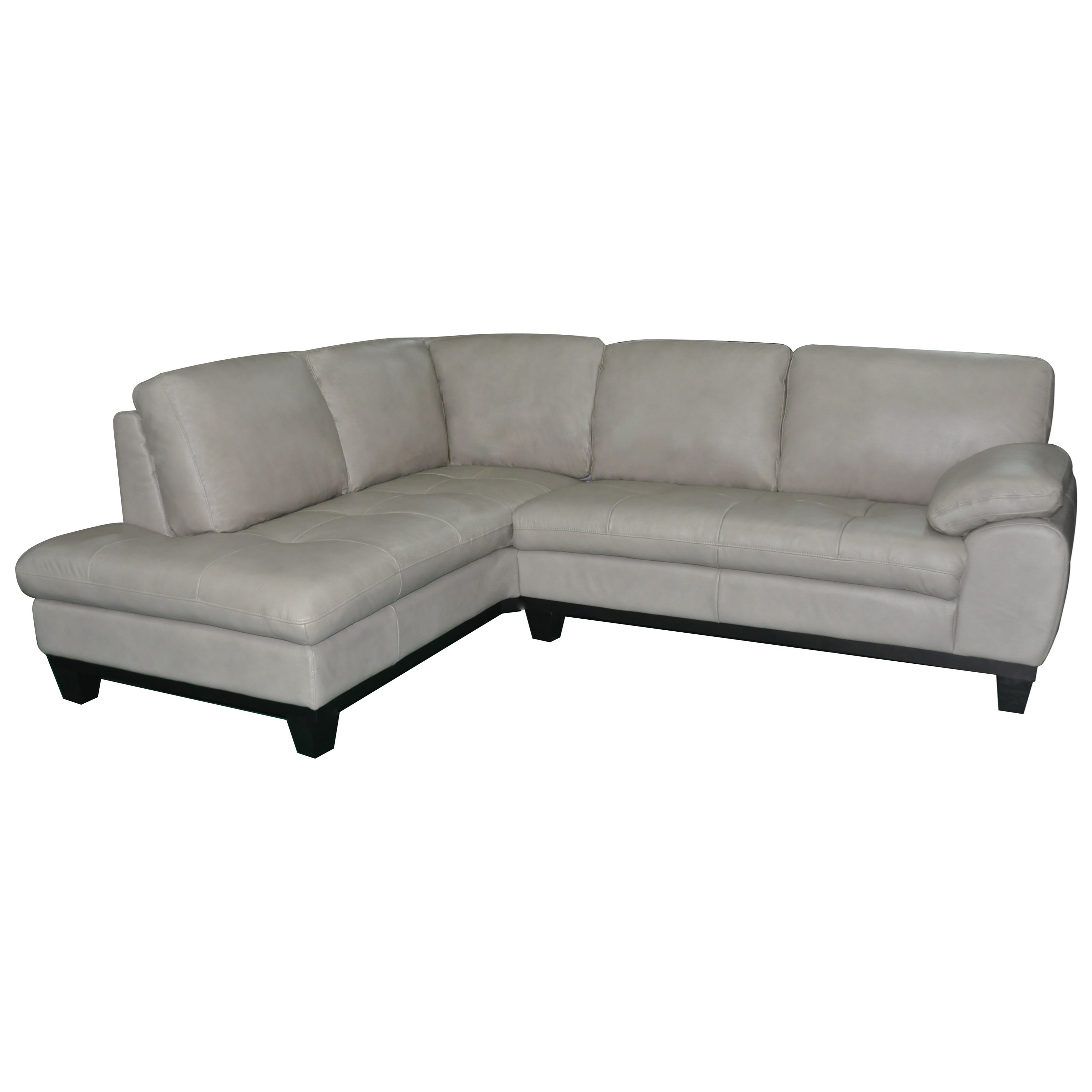 BFW Lifestyle 1263 2 Pc Sectional Sofa w/ LAF Chaise - Item Number: 1263B CL LAF+1263B 2 RAF-L1622