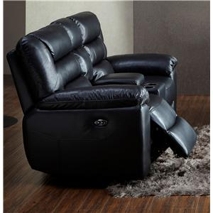 BFW Lifestyle 1711 Reclining Loveseat with Console