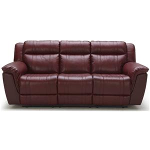 K.C. Norton Norton Reclining Leather Sofa (POWER Option)
