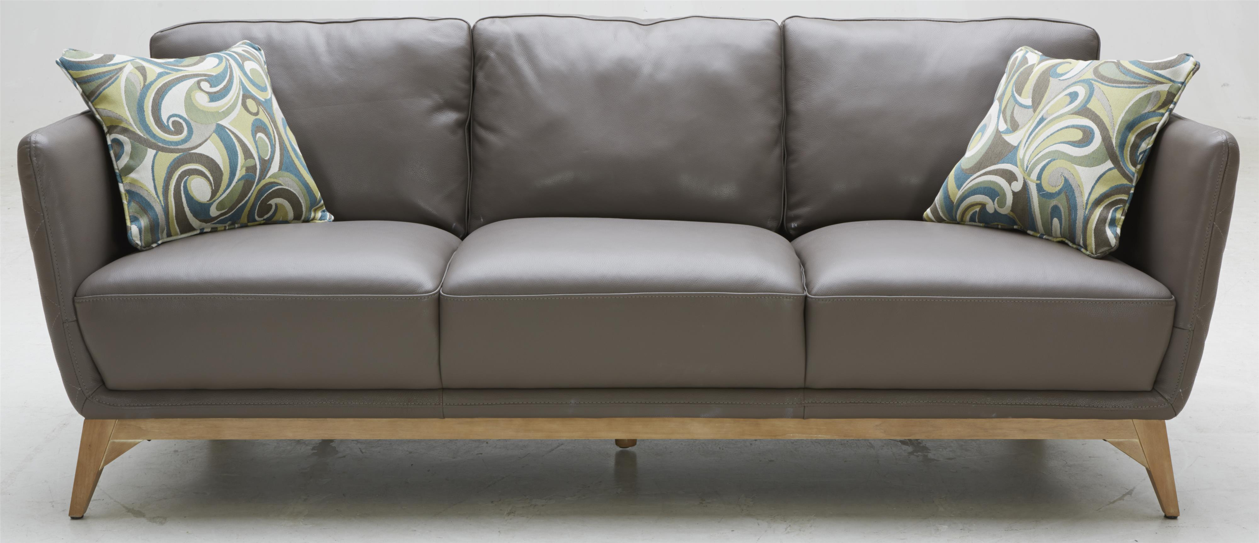 1961 Contemporary Leather Match Sofa by Warehouse M at Pilgrim Furniture  City