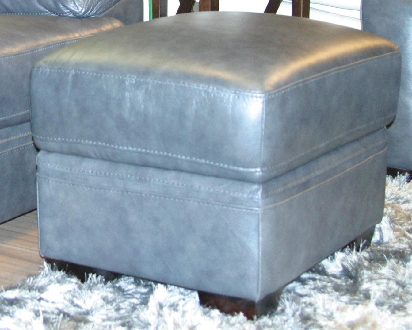 BFW Lifestyle 1963 Casual Ottoman - Item Number: 1963 Otto M1215 Dk Grey