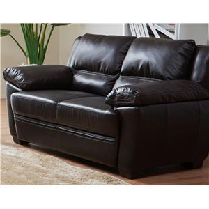 K.C. Vista Vista Leather Loveseat