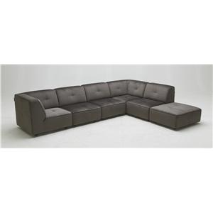 BFW Lifestyle 3179 Contemporary Sectional Sofa