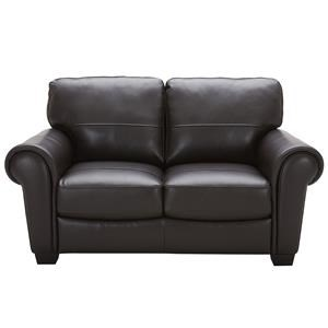 Urban Evolution Teddy Leather Loveseat