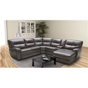 K.C. Huntley Huntley Leather Modular Reclining Sectional