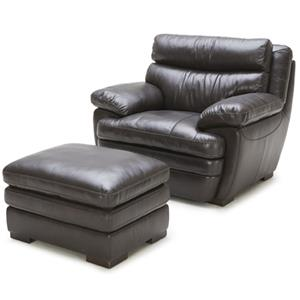 BFW Lifestyle 5073 Chair and Ottoman Set