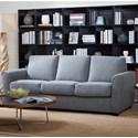 Kuka Home 5278 Queen Sleeper Sofa - Item Number: 5278-3 2A QUEEN-GRAY