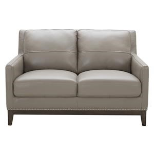 Urban Evolution Rachel Leather Love Seat