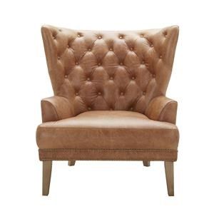 Urban Evolution Grandin Tufted Leather Chair