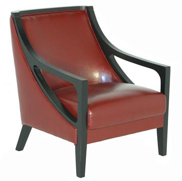 BFW Lifestyle A-738 Accent Chair with Exposed Wood - Item Number: A-738-DU005